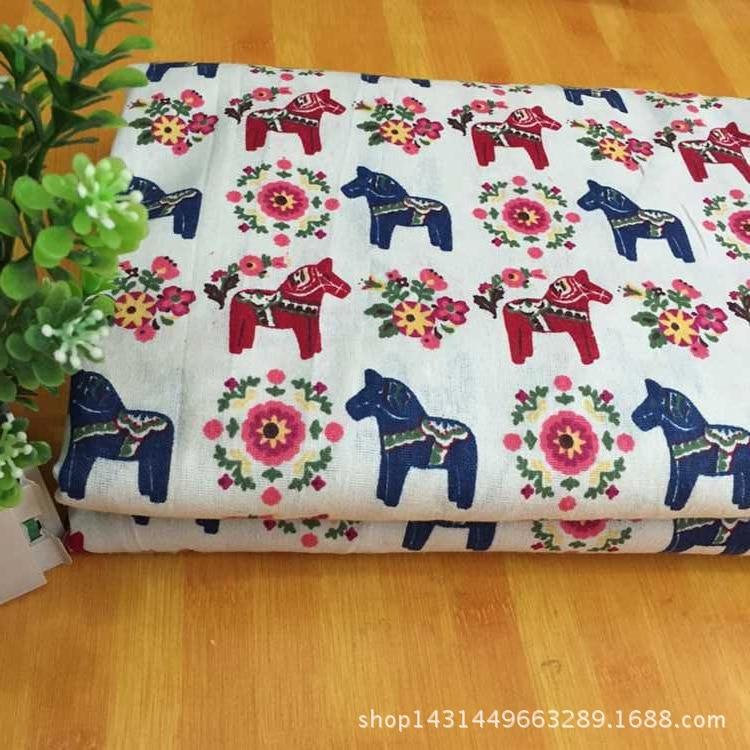 2017 Tissus Patchwork Fabric 150cm*100cm Per Lot Manufacturers Selling Linen Fabric Cotton Cloth Pillow Bags <font><b>Trojan</b></font> Flowers Lj