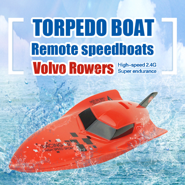 Barco del rc $ number canales de alta velocidad desarrollado barco 2.4 v rc barcos remos modelo volvo plástico toys para niños al aire libre 3312