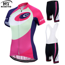 KIDITOKT Tabitha Women Bike Shirt 100% Polyester Breathable Bicycle Clothes Summer Cycling Jersey Short Sleeve Cycling Clothing