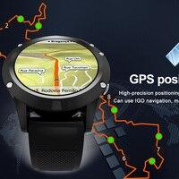 GPS smart watch phone Sports Smartwatch Phone 1.3 inch MTK6580 Dual Bluetooth Camera Heart Rate Sleep Monitoring pk KW88 S99