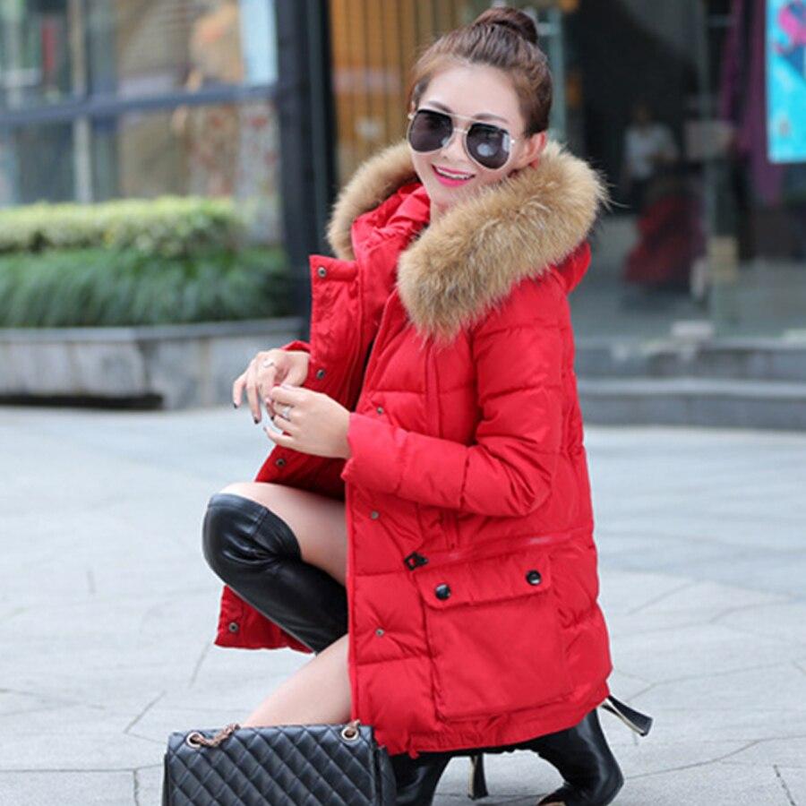 Fashional New Coats & Jackets 2016 Parka Hooded Winter Jacket Women Fur Collar Winter Coat Women Zipper Women's Jacket