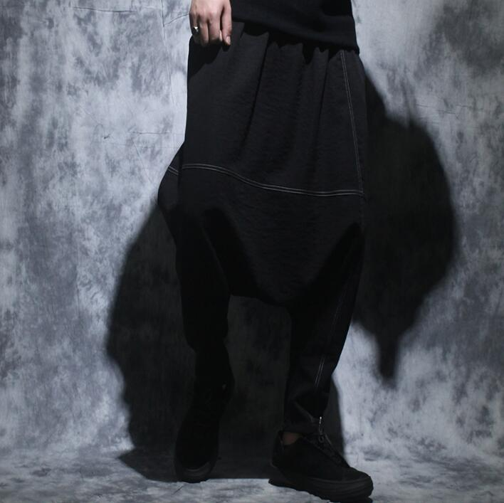 Summer personality fashion loose harem pants mens casual trousers pantalones hombre cargo feet pants for men pantalon homme