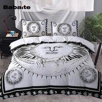 אל שמש Babaite 3 Pieces מוסמך ציפות מצעים להגדיר כיסוי שמיכה רך שחור ולבן בגודל קינג מלכה מלאה תאום