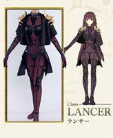 Anime Fate/ Grand Order Scathach Sexy Cosplay Costume High Quality black Uniforms Cosplay Costume S M L Size