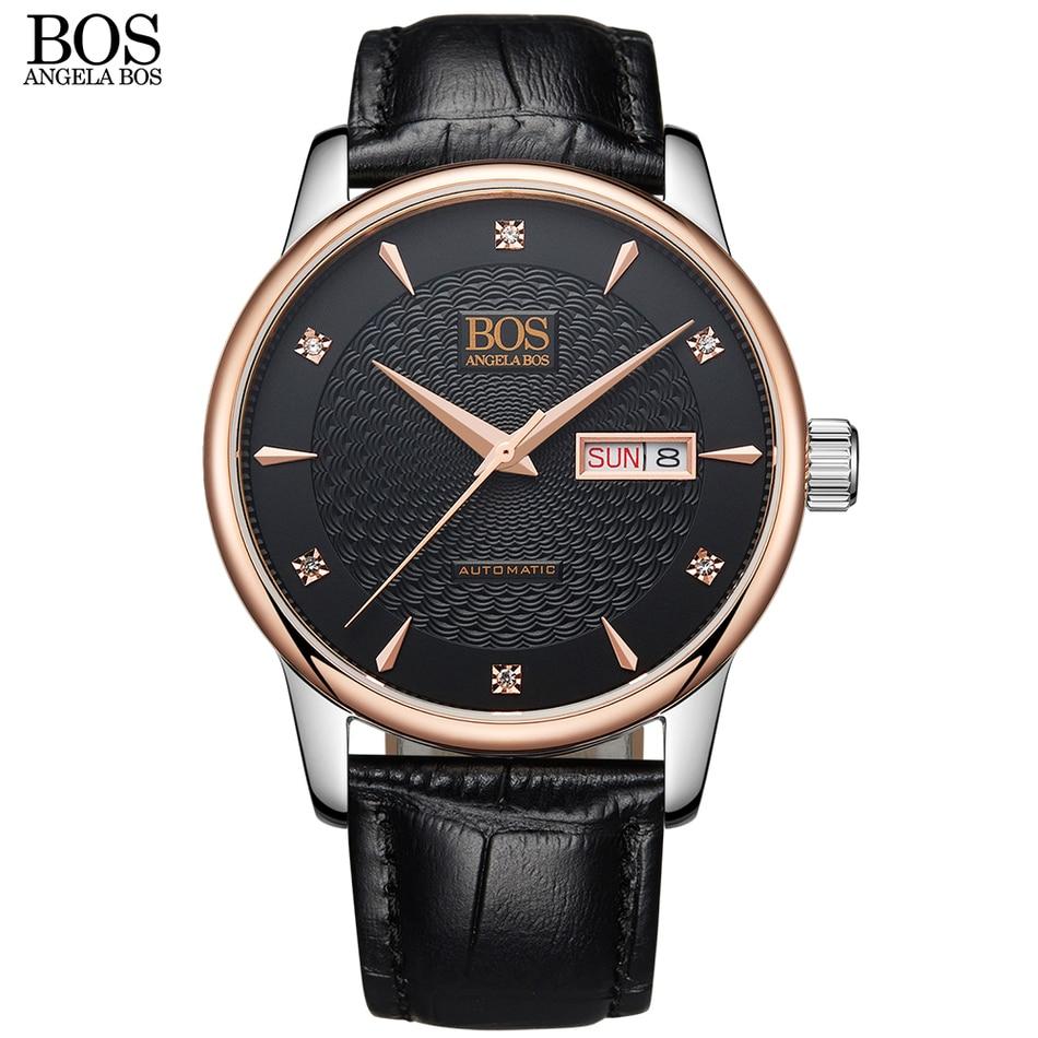 안젤라 보스 비즈니스 셀프 윈드 자동 시계 남자 - 남성 시계 - 사진 3