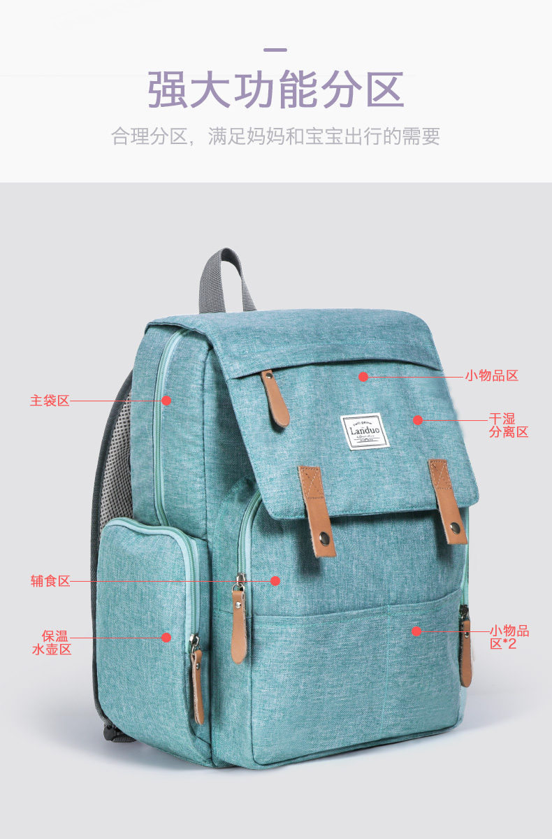 HTB13fgPRrPpK1RjSZFFq6y5PpXao 2019 LAND Mommy Diaper Bags BACKPACK Landuo Mummy Large Capacity Travel Nappy Backpacks Convenient Baby Nursing Bags 11 types