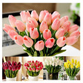25pcs/lot PU Tulip Artificial Flowers Wedding Home Decorative Flowers Home Decoration Flower 9 color (no vase)