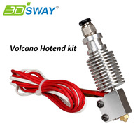 3DSWAY Assembled E3D V6 Hotend Kit With Volcano Nozzle All Metal J Head For 1 75mm