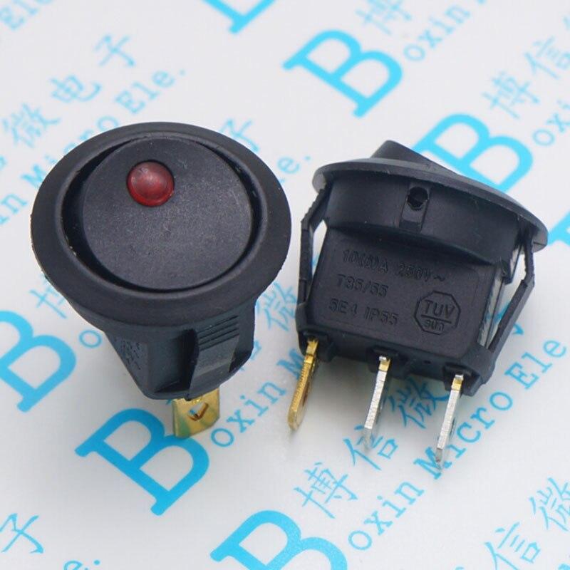 Oeil de chat rouge deux à trois pieds trou 20mm forme devenir déformé panneau d'alimentation interrupteur rond 12 v