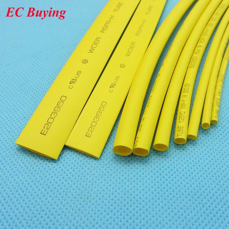 1 m/pcs Schrumpfschlauch Rohr 2:1 Schwarz Gelb Rot Transparent farbe 2mm 2,5mm 3mm 3,5mm 4mm 5mm 6mm 8mm 10mm isolierung