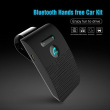 Bluetooth Car Handsfree Kit Wireless Bluetooth Speakerphone Sun Visor Car MP3 Music Player Multipoint Noise Cancelling