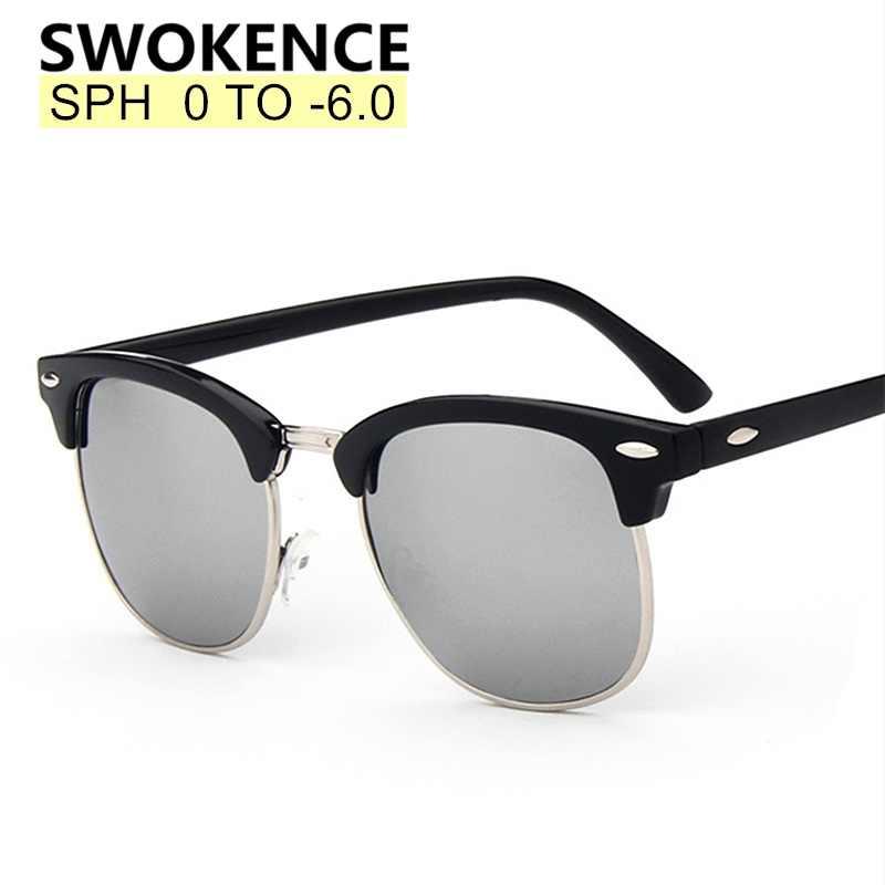 9300c11ad2fe Prescription Glasses SPH 0 to -6.0 For Myopia Men Women Polarized Mirror  Lenses Sunglasses With