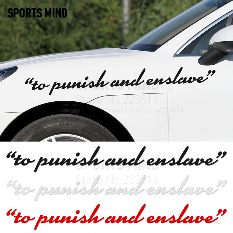 3 Pieces SPORTS MIND to punish and enslave Automobiles Waterproof Reflective vinyl Car Body Sticker Decal For All Car