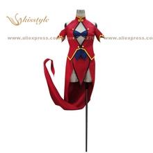 Kisstyle moda litchi faye ling blazblue alter memoria uniforme cos ropa cosplay, modificado para requisitos particulares aceptado