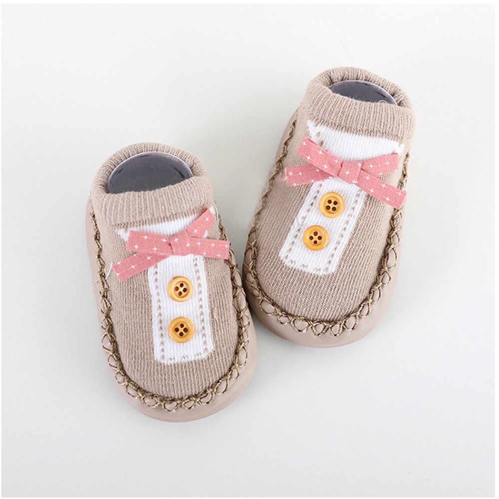 Newborn Spring Autumn Winter Infant Funny Socks Cartoon Newborn Baby Girls Boys Anti-Slip Socks Slipper Shoes dropshipping