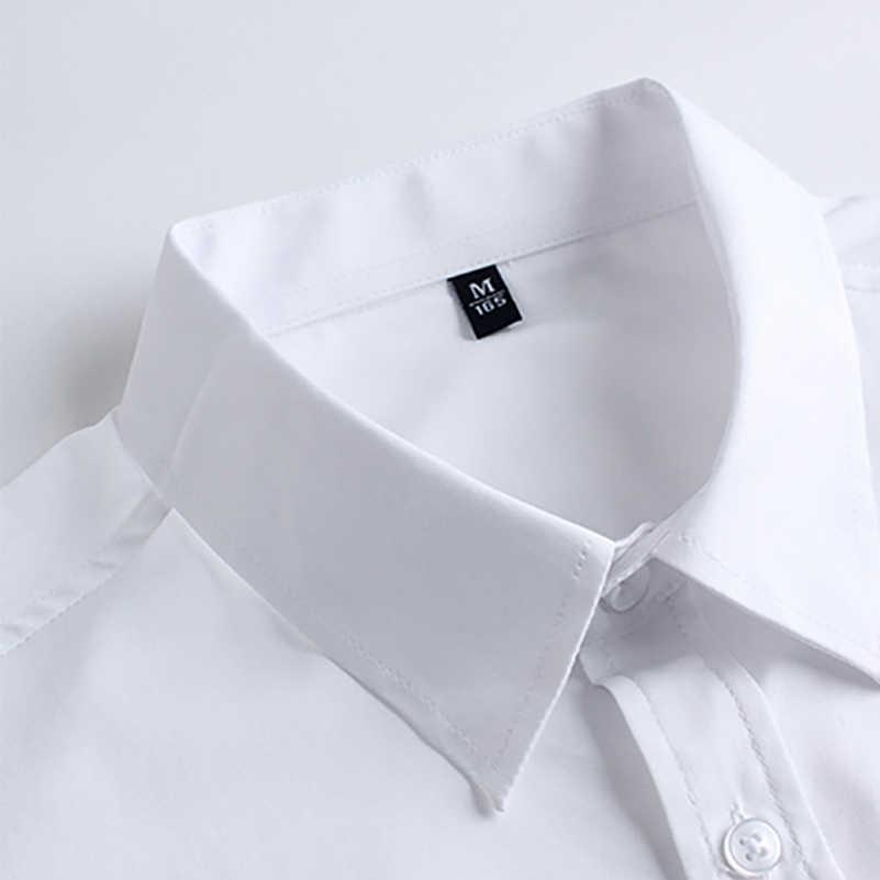 VISADA JAUNA 2019 新メンズ半袖シャツ Soild 色ビジネススリムフィットしわ抵抗男性ブランドビッグサイズ 5XL N5103