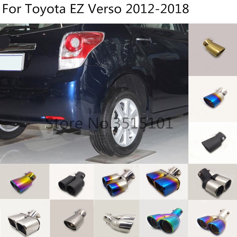 Car Body Styling Cover Muffler Pipe Outlet Dedicate Exhaust Tip Tail 1pcs For Toyota EZ Verso 2012 2013 2014 2015 2016 2017 2018
