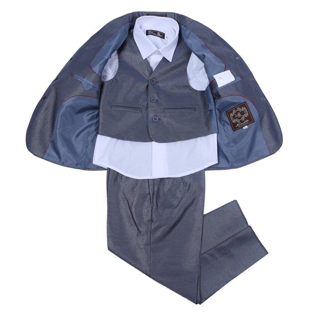 Nimble Boy Wedding Suit Grey Fashion Three Pieces Boys Formal Suit Children Wear Coat Pants Vest