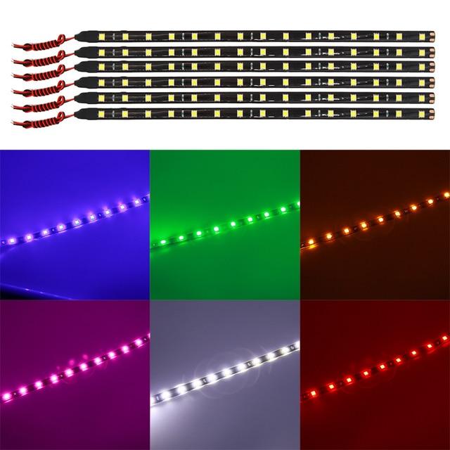 10pcs auto led strip lights 30cm 60cm 1530 led 5050 smd flexible 10pcs auto led strip lights 30cm 60cm 1530 led 5050 smd flexible strip light car auto aloadofball Gallery