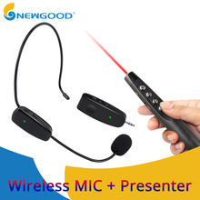 Microphone UHF Wireless For Voice Amplifier Computer Professional Headset Microphones