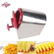 ITOP спиральные приспособления для резки картофеля измельчитель картофеля и Слайсеры Картофельная башня машина витой картофель, спираль фри, хот-дог чипсы 3 модели