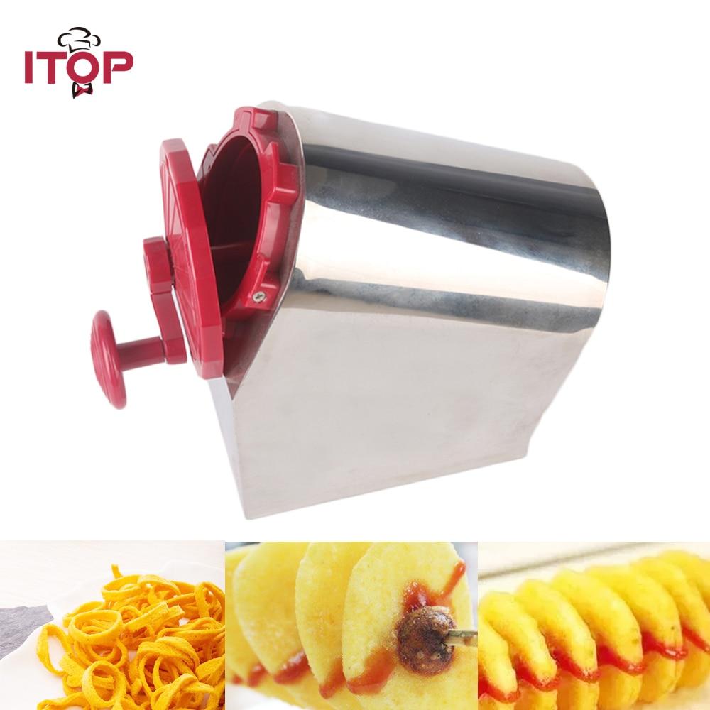 купить ITOP Spiral Potato Cutters Potato Shredders & Slicers Potato Tower Machine Twisted potato, Spiral Fries, Hot dog chips 3 Models по цене 4301.14 рублей