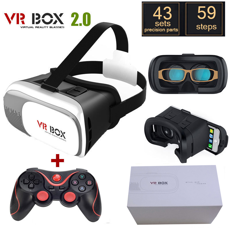 Google cardboard font b VR b font BOX 2 0 Version Virtual Reality Glasses Bluetooth Wireless