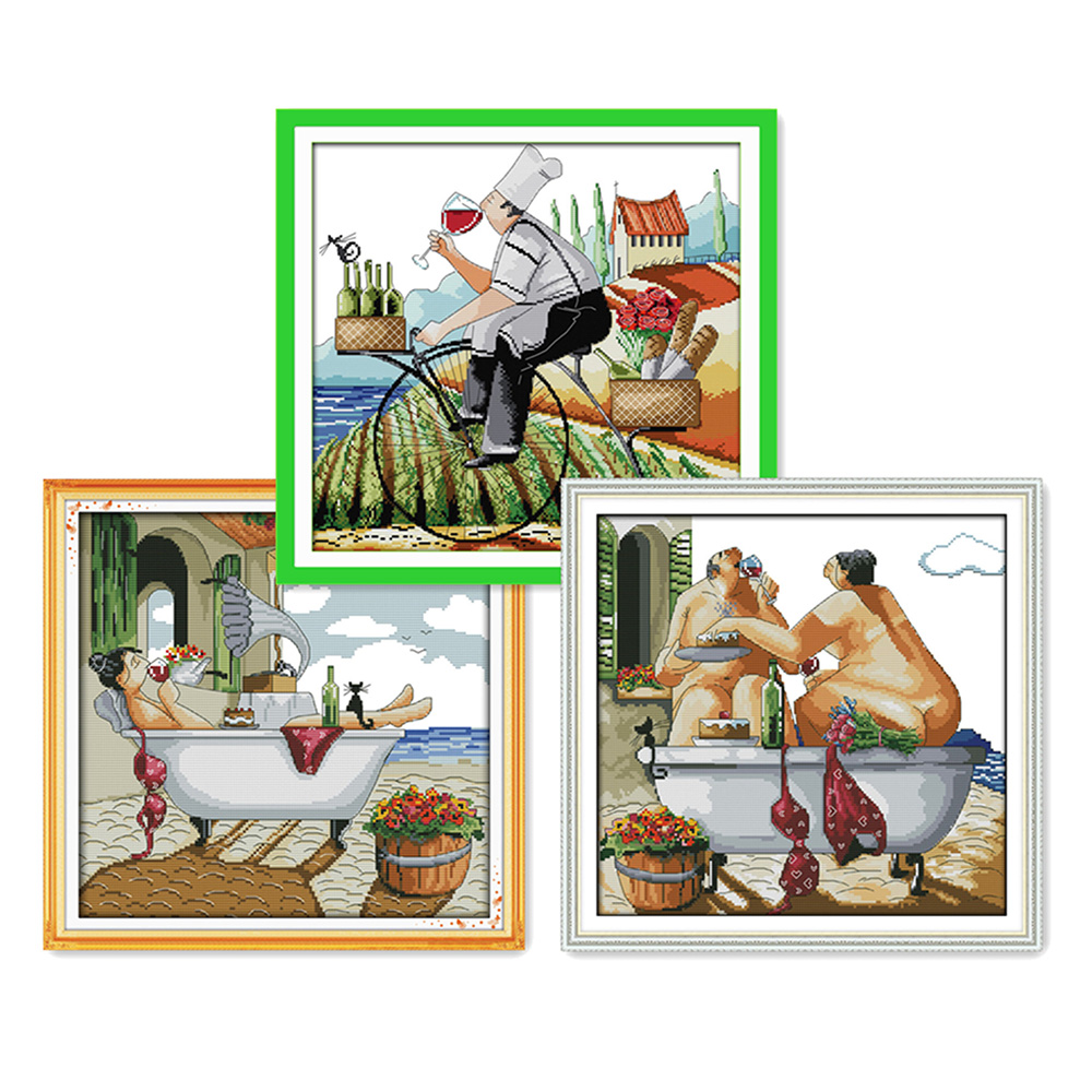 Everlasting love Christmas Enjoy life Ecological cotton Chinese cross stitch kits counted stamped 14CT 11 CT sales promotion