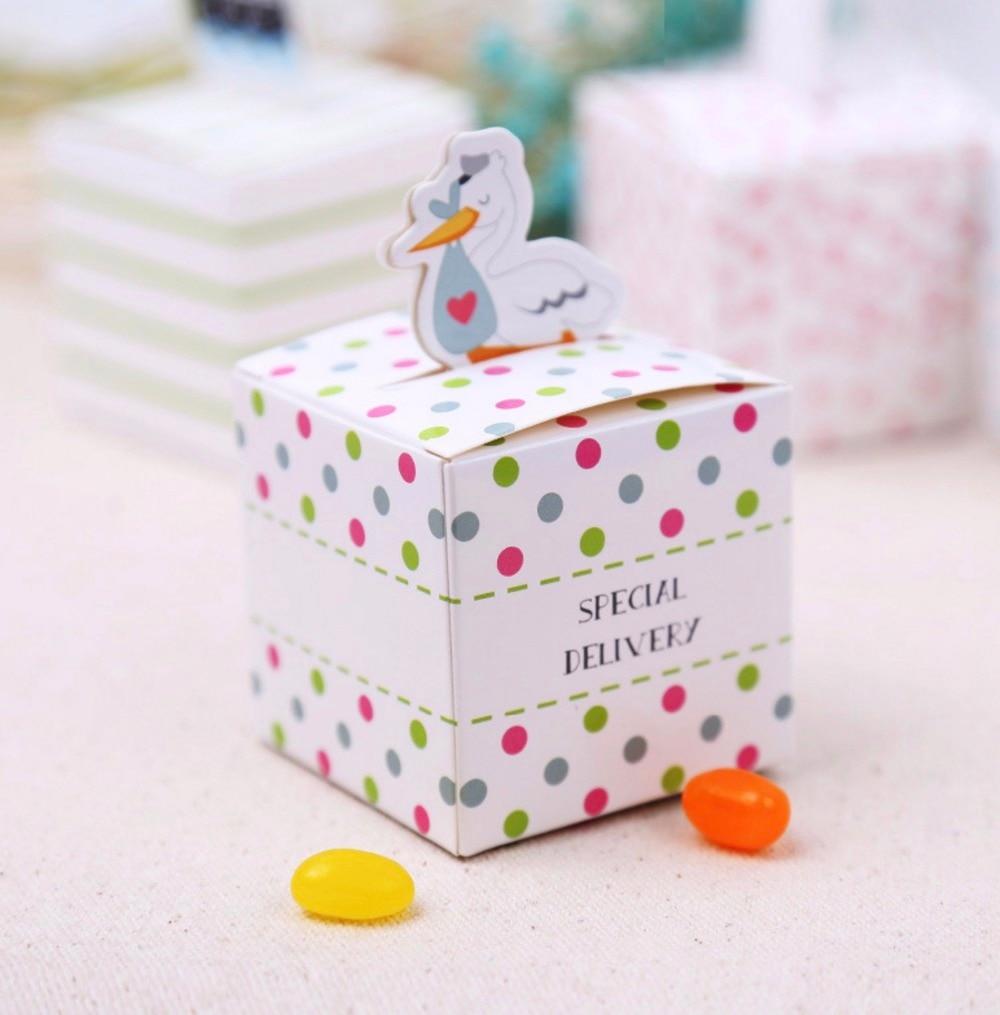 Boy Girl Party Supplies Baby Shower Favor Candy Box Milk Bottle ...