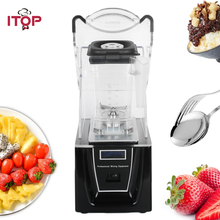 ITOP Commercial Professional Blender With Sound Cover Powerful Juicer Mixer Ice Crusher Ice Smoothies Blender White/Black itop commercial professional juicer ice crusher blender multifunctional kitchen appliance food mixer