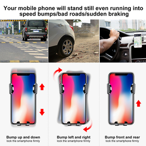 Image 4 - Baseus Gravity Car Phone Holder For iphone 11 Pro X 8 Universal Phone Holder Car Mount For Samsung Android Car Phone Stand