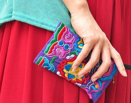 10 шт./партия, новые женские кошельки, женские сумки, повседневный клатч в китайском стиле, мягкий хлопковый вышитый кошелек, визитница, сумки
