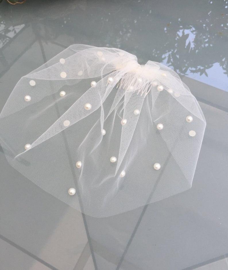 Bridal Birdcage Veil and  Beaded Veil, Blusher Veil,Short Wedding accessories