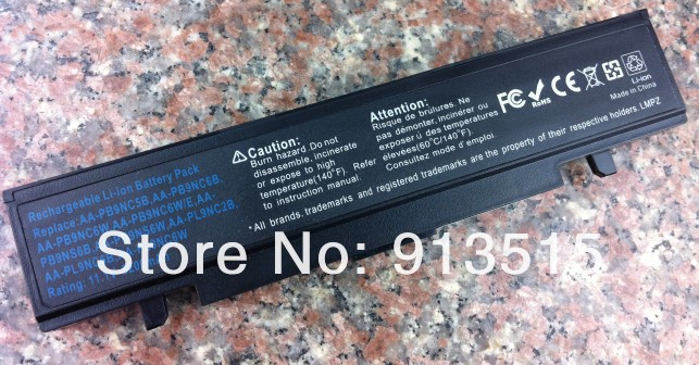 Image 2 - Free Shipping For SAMSUNG NP R519 R530 R522 R519 AA PB9NC6B R520 R470 R428 Q320 R478 BATTERY (CE,RoHS)-in Laptop Batteries from Computer & Office