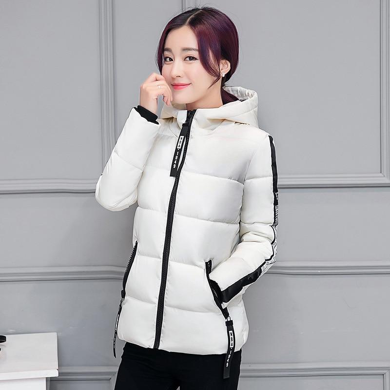 ФОТО 2016 Winter Korean warm coat Woman Short Fund Fashion Letter Slim big size Student Cotton-padded Coat 0608068