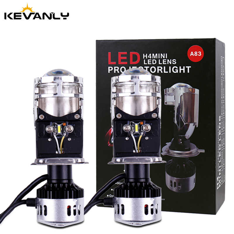 New Mini Projector Lens H4 LED Conversion Kit H4 Bulb 9600LM Automobiles Hi/Lo Beam LED Headlight Bulbs 12V 24V 6500K White