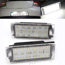 2Pcs Car LED Number License Plate Light For Renault Clio Laguna 2 Megane 3 Twingo Master Vel Satis SMD3528 цена в Москве и Питере