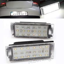 MZORANGE 2Pcs Car LED Number License Plate Light SMD3528 For Renault Clio Laguna 2 Megane 3 Twingo Master Vel Satis Car Lights
