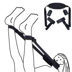 Женское сексуальное женское БДСМ белье Связывание Секс наручники ноги открытые удерживающие шею наручники лодыжки манжеты ремни эротичес...