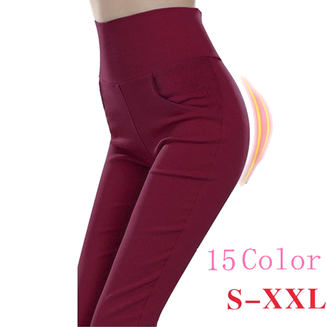 S-XXL 15 Candy Color casual pants Pencil Pants Skinny women pants women With 4 Pockets Trousers Lady Jeans pantalones plus size