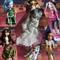10 Шт./лот = 6 Платье + 4 Пара Обуви БОЛЬШАЯ РАСПРОДАЖА Платье и обувь Для Монстр Куклы Наборы Монстр Куклы Девушка Игрушки Высокого качество