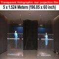 Стоимость бесплатная доставка клей прозрачный проекционный пленка для отображения голограмм ( 1.524 * 5 м )
