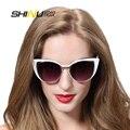 Винтаж Cat Eye Солнцезащитные Очки Женщины Мужчины выдалбливают мода new лето солнцезащитные очки UV400 с кожаной коробке SH71015