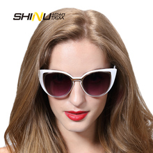 Vintage Cat Eye Sunglasses Women Men hollow out fashion new summer sun glasses UV400 with leather box  SH71015