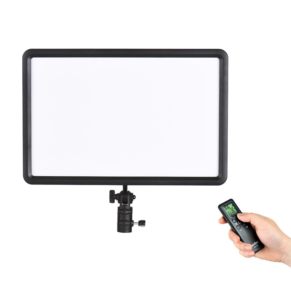 Godox LEDP260C 30W Ultra-thin LED Video Light 3200K-5600K Panel Lamp Wireless Remote Control Handle for Cannon Nikon Sony