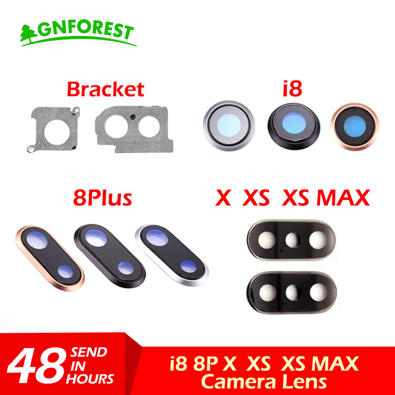 Cover-Ring Frame Replacement Rear-Camera-Lens iPhone Glass Back 8-Plus New with for Max