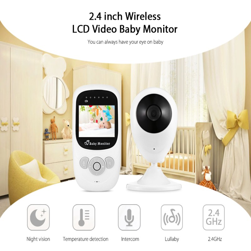 Drop Shipping CYSINCOS SP880 Wireless Camera Baby Warm Night Vision Two-way Sleep Monitor 2.4 Inch LCD  Temperature