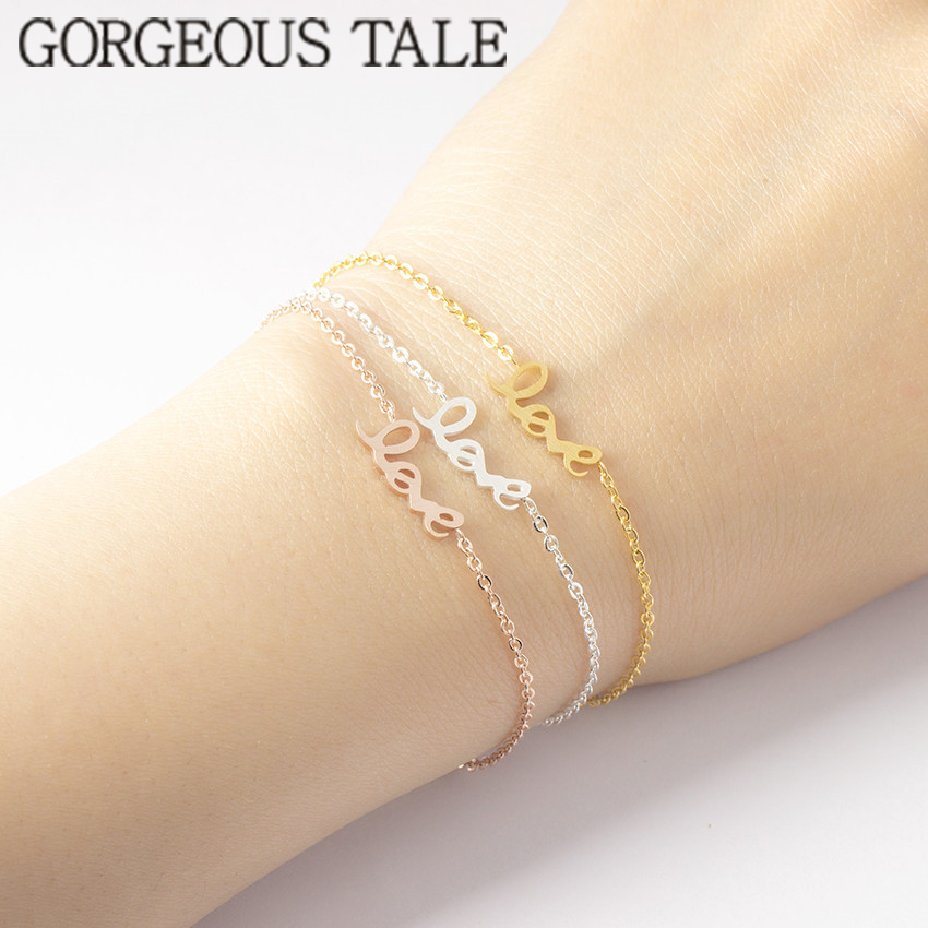 GORGEOUS TALE 2018 Women Wedding Accessories Cute Love Bracelet ...