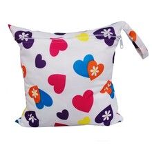 28*30CM  Single Pocket Wet Bags, Baby Cloth Diaper Bag, Waterproof Reusable Nappy Bags, Small Size Mummy Dry Bag L1 цены