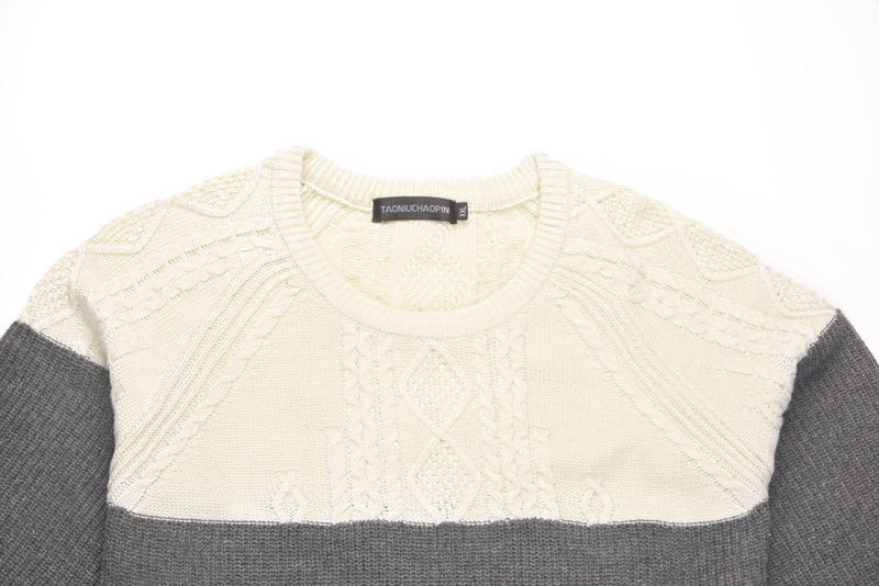 US $18.86 49% OFF|Knitted Mens Twist Sweater Casual Slim Fit Patchwork Pullover Sweaters Men Contrast Color O Neck Pull Homme Hiver Sueter Hombre in